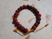 Bracelet Made from Rudraksha seeds